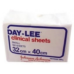 Daylee Clinical Sheets Small 32 x 40cm Pkt of 100