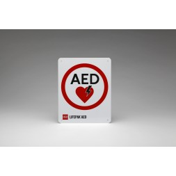 AED Flat Acrylic Wall Sign With Logo 10 Inch