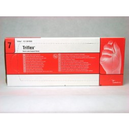 Triflex Latex Surgeons Gloves Powdered Sterile Size 71/2 Box of 40 Pairs