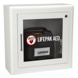 Surface Mount Wall Cabinet with Alarm and Strobe White Each