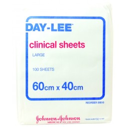 Daylee Clinical Sheets Large 60 x 40cm Pkt of 100