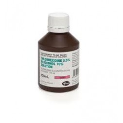 Chlorhexidine 0.5% Alcohol 70% 100ml Each