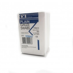S&M Gauze Swabs Non Sterile 5 x 5cm Packet of 100