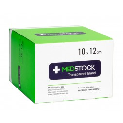 Medstock Transparent Island Dressing 10 x 12cm Box of 50