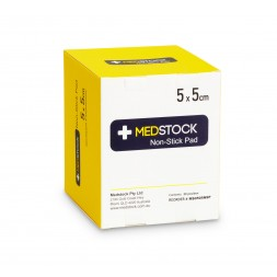 Medstock Non Stick Pad 5 x 5cm Box of 50