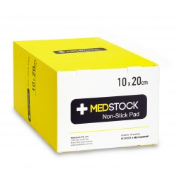 Medstock Non Stick Pad 10 x 20cm Box of 50