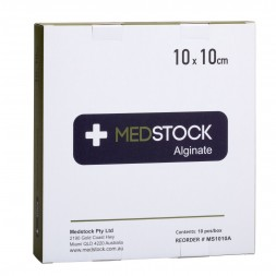 Medstock Alginate Dressing 10 x 10cm Box of 10