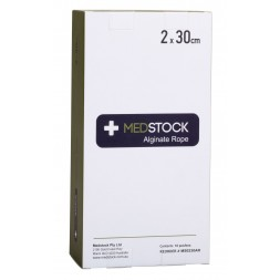 Medstock Alginate Dressing Rope 2 x 30cm Box of 10