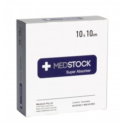 Medstock Super Absorbent Dressing 10 x 10cm Box of 10