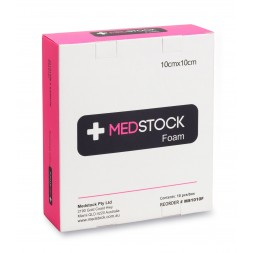 Medstock Foam Non Adhesive Dressing 10 x 10cm Box of 10