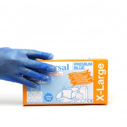 Vinyl Gloves Blue Low Powder Large Box of 100