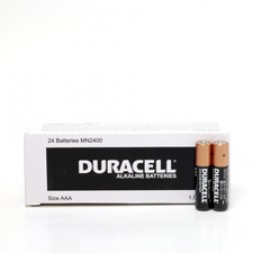 Battery Duracell Alkaline Size AAA (Bulk Pack) Box of 24