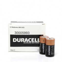 Battery Duracell Alkaline Size C (Bulk Pack) Box of 12