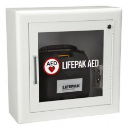 LIFEPAK Surface Mount Wall Cabinet in White with Alarm Each