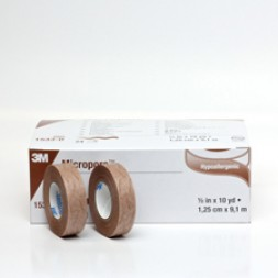Micropore Tape 12mm x 9.1m Skin Tone Box of 24