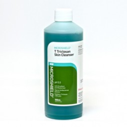 Microshield T (Blue) Triclosan Skin Cleanser - 500ml each