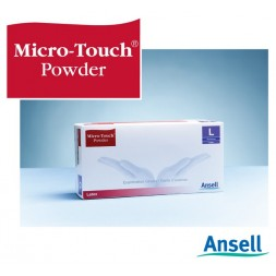 Micro-Touch Latex Gloves Powdered Non Sterile Medium Box of 100