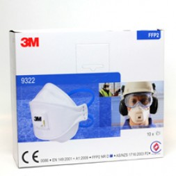 3M Respirator Mask P2 with Valve 9322 (N95) Box of 10