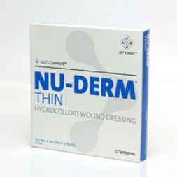 Nu-Derm Hydrocolloid Thin Filmdressing Brdr 10 x 10cm  Box of 10