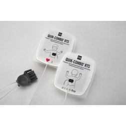 Paediatric Edge System RTS Electrodes with QUIK-Combo Connector Lifepak 12