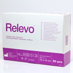 Relevo (Drymax) Absorbent Dressing 10 x 10cm Box of 50
