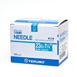 Needles Terumo 23G x 32MM Box of 100
